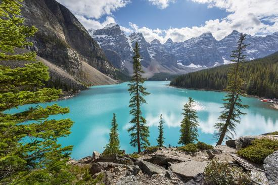 Moraine Lake and the Valley of the Ten Peaks, Banff National Park, UNESCO World Heritage Site, Cana-Frank Fell-Photographic Print
