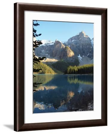 Moraine Lake in Banff National Park-Vienna mornings-Framed Photographic Print