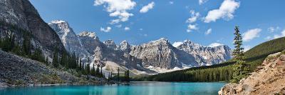 Moraine Lake Panorama-Larry Malvin-Photographic Print