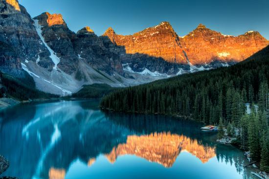 Moraine Lake Sunrise-Andrey Popov-Photographic Print