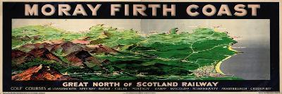 Moray Firth Coast, Poster Advertising the Gnsr-English School-Giclee Print