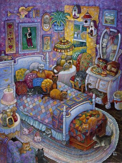 More Cats and Quilts-Bill Bell-Giclee Print