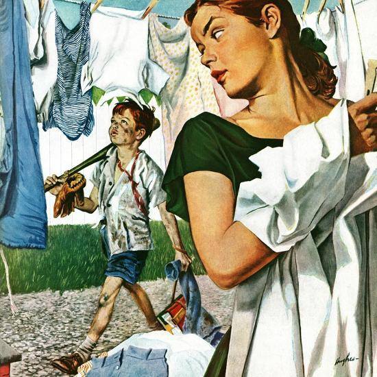 """More Clothes to Clean,"" April 17, 1948-George Hughes-Premium Giclee Print"