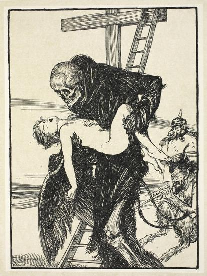 More Cruel Than Death, Illustration from the Kaiser's Garland by Edmund J. Sullivan, Pub. 1916-Edmund Joseph Sullivan-Giclee Print