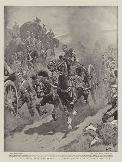 More Dangerous Than the Enemy, a Runaway Water Cart at the Manoeuvres-John Charlton-Giclee Print
