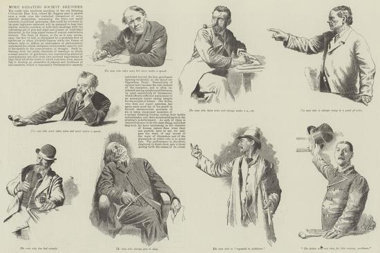 More Debating Society Sketches--Giclee Print
