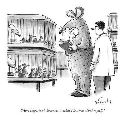 """""""More important, however, is what I learned about myself."""" - New Yorker Cartoon-Mike Twohy-Premium Giclee Print"""