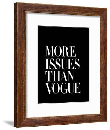 More Issues Than Vogue Black-Brett Wilson-Framed Art Print