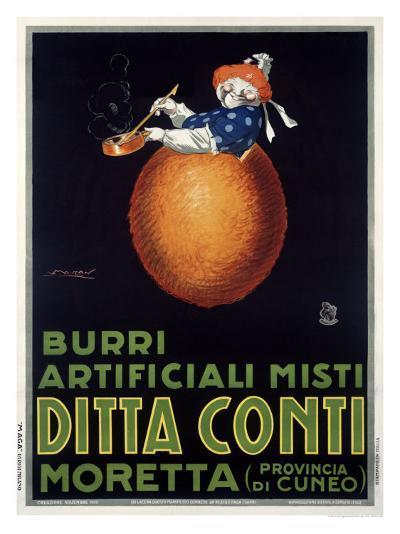 Moretta Butternut Cream-Achille Luciano Mauzan-Giclee Print