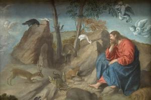 Christ in the Wilderness by Moretto Da Brescia