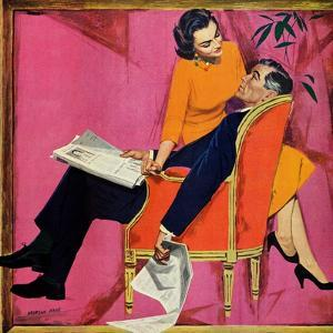 """The Year of Discontent - Saturday Evening Post """"Men at the Top"""", June 29, 1957 pg.18 by Morgan Kane"""