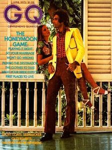 Couple on Porch, Male Model Wearing an Esquire Sportswear Corduroy Suit by Morgan Rank