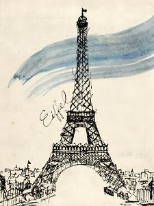 Eiffel Tower in Pen by Morgan Yamada