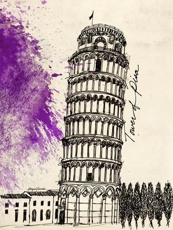 Tower of Pisa in Pen