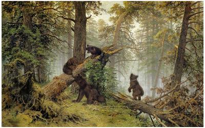 Moring In A Pine Wood-Ivan Ivanovitch Shishkin-Art Print