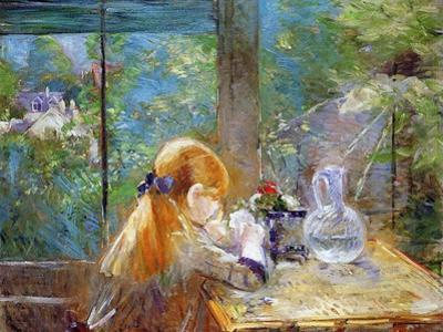 Red-Haired Girl Sitting on a Veranda, 1884 by Morisot