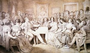 An Evening at Baron Von Spaun's: Schubert at the Piano Among His Friends by Moritz Ludwig von Schwind