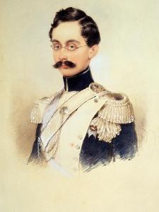 Portrait of Adolphe I, Duke of Nassau, Grand Duke of Luxembourg (1817-190), 1840S by Moritz Michael Daffinger