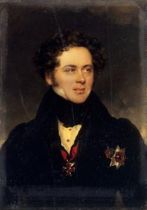 Portrait of Count Alexey Alexeyevich Perovsky (1787-183), Writer Antony Pogorelsky, 1827 by Moritz Michael Daffinger