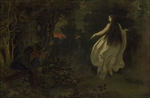 Appearance in the Forest, about 1858 by Moritz Von Schwind