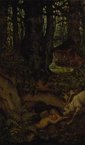 Nymps in the Forest Spring, ca. 1846 by Moritz Von Schwind