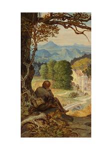 On the Tramp, around 1860 by Moritz Von Schwind