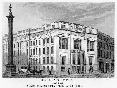 Morley's Hotel and Nelson's Column, Trafalgar Square, Westminster, London, 19th Century--Giclee Print