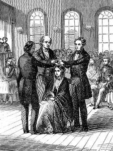 Mormon Confirmation Ceremony, Salt Lake City, Utah, 1853