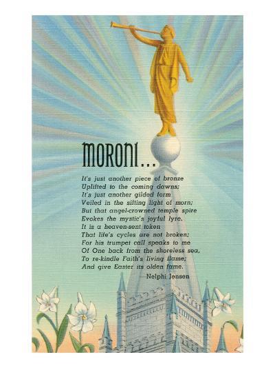Mormon Statue, Angel Moroni--Art Print