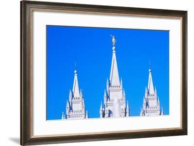 Mormon Temple in Salt Lake City Utah--Framed Photographic Print