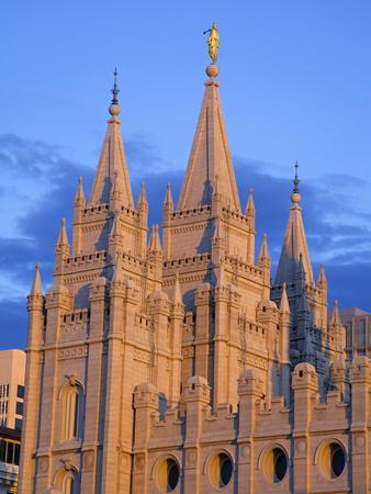 Mormon Temple on Temple Square, Salt Lake City, Utah, United States of America, North America-Richard Cummins-Photographic Print
