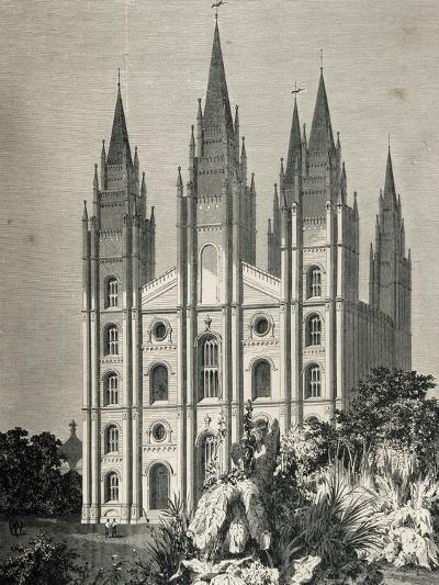 Mormon Temple, Salt Lake City, Utah, United States--Giclee Print