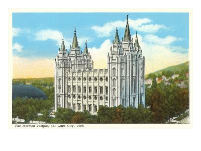 Mormon Temple, Salt Lake City, Utah--Art Print