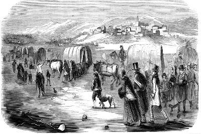 Mormons on the Trek from Illinois to Utah, 1846--Giclee Print