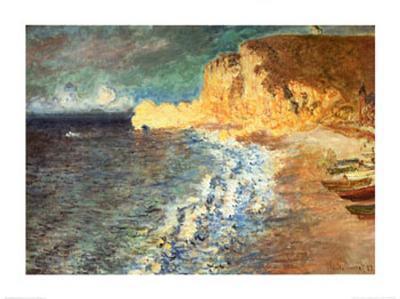 Morning at Etretat, c.1883-Claude Monet-Art Print