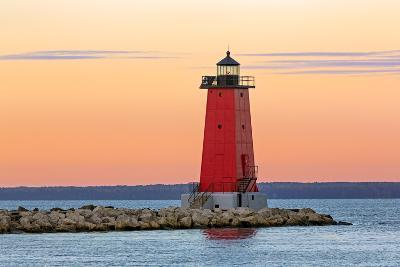 Morning at Manistique Lighthouse-Kenneth Keifer-Photographic Print