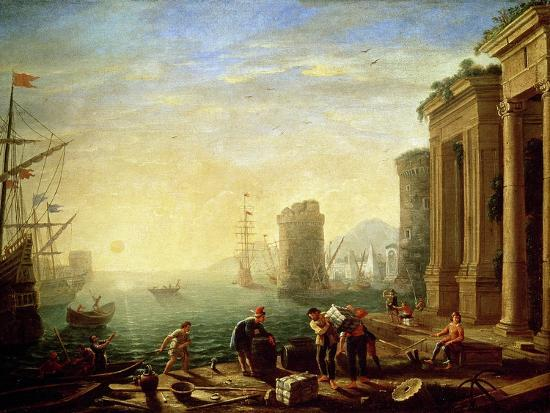 Morning at the Port, 1640-Claude Lorraine-Giclee Print