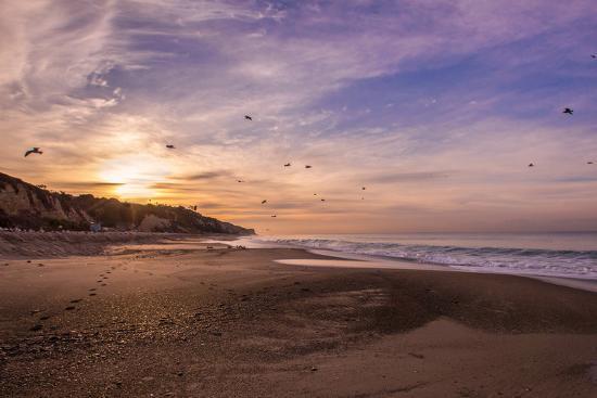 Morning Beach Walk-Sally Linden-Photographic Print