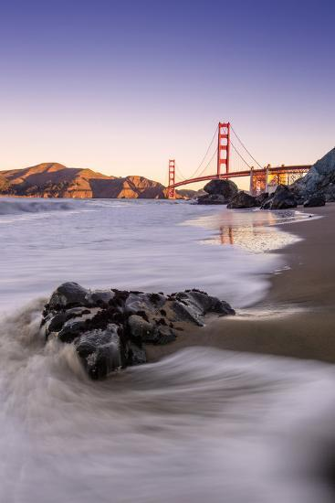 Morning Beachscape at Golden Gate Bridge, California-Vincent James-Photographic Print
