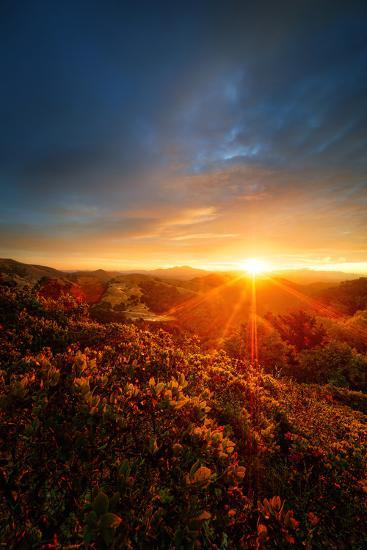 Morning Break, Sunrise and Clouds Over Mount Diablo, Oakland, Bay Area-Vincent James-Photographic Print