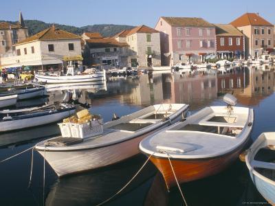 Morning Calm in the Harbour, Starigrad, Hvar Island, Central Dalmatia, Croatia-Ken Gillham-Photographic Print