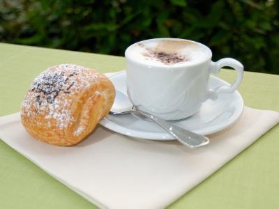 Morning Cappuccino at Eden Grand Hotel, Lake Lugano, Lugano, Switzerland-Lisa S^ Engelbrecht-Photographic Print