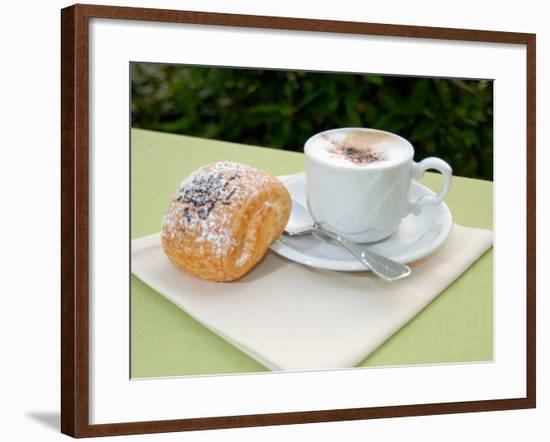 Morning Cappuccino at Eden Grand Hotel, Lake Lugano, Lugano, Switzerland-Lisa S. Engelbrecht-Framed Photographic Print