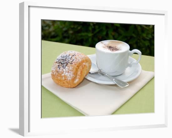 Morning Cappuccino at Eden Grand Hotel, Lake Lugano, Lugano, Switzerland-Lisa S. Engelbrecht-Framed Photographic Print