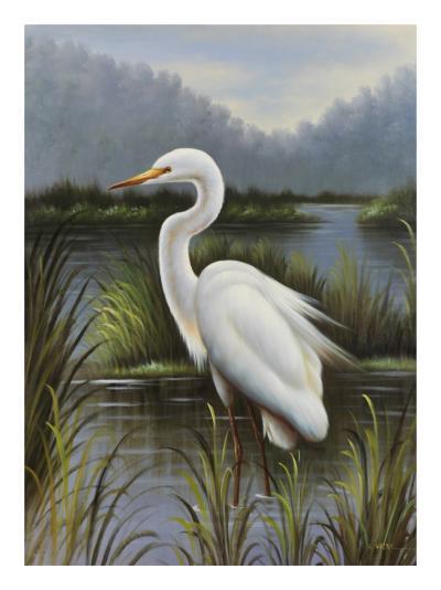Morning Egret-Kilian-Art Print