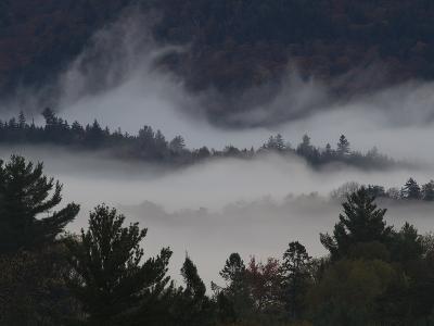 Morning Fog Blankets Adirondack Park-Michael Melford-Photographic Print