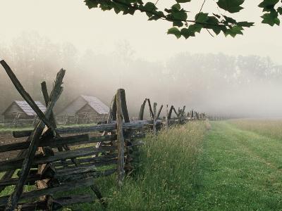 Morning Fog on a Mountain Farm-Gary W^ Carter-Photographic Print