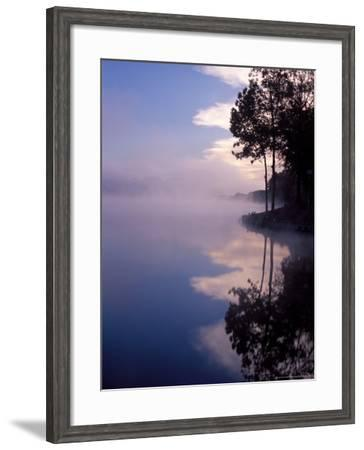 Morning Fog Reflects on a Quiet Lake, Arkansas, USA-Gayle Harper-Framed Photographic Print