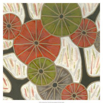 Morning Glories I-Karen Deans-Art Print