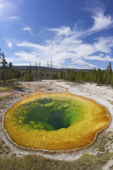 Morning Glory Pool, Upper Geyser Basin, Yellowstone Nat'l Park, UNESCO Site, Wyoming, USA-Peter Barritt-Photographic Print